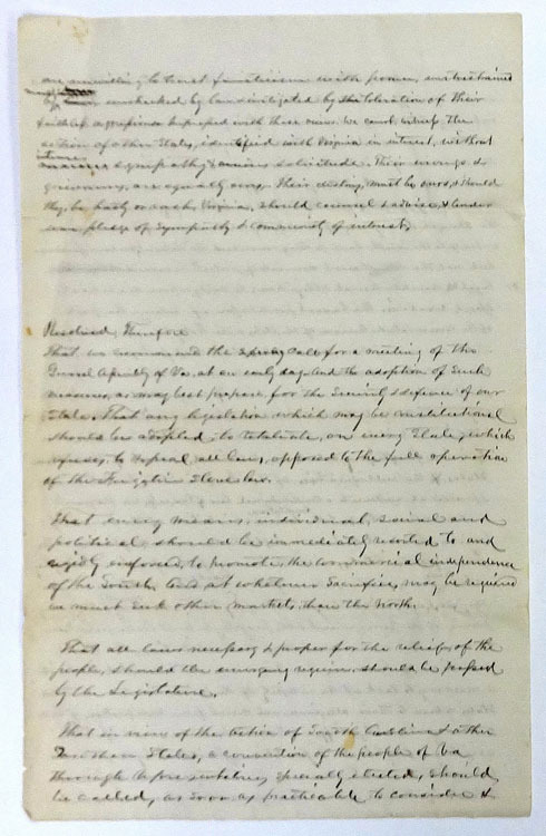 Resolution concerning the nullification of the Fugitive Slave Act. Pittsylvania County, Va., 1861.