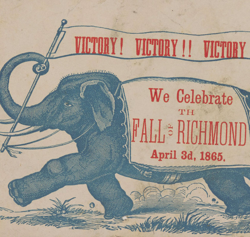 Detail, Victory! Victory!! Victory!!! We celebrate the fall of Richmond April 3d, 1865.