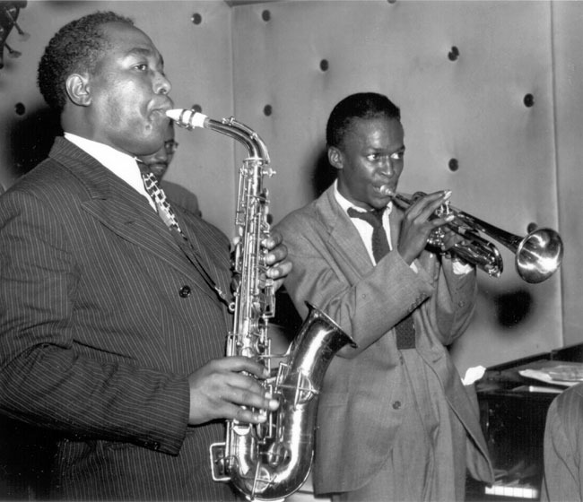 "Charlie ""Bird"" Parker and Miles Davis"