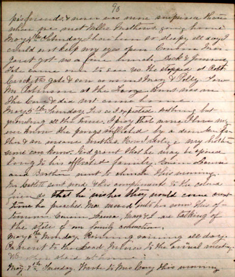 Letter from Bettie Ann Graham, 1861