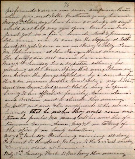 Letter from Bettie Ann Graham, 1861