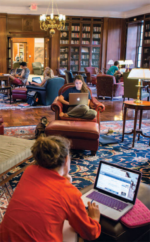The McGregor Room is a popular study space. Photo by Stacey Evans