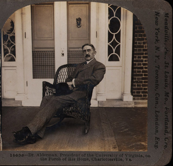Stereograph photographs. Edwin Anderson Alderman. ca. 1917. Photographs by the Keystone View Company. Gift of Krainik Gallery.