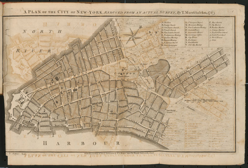 John Rocque, A set of plans and forts in America, 1765.