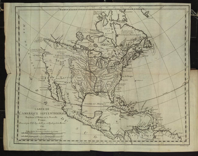 """""""Carte de l'Amérique Septentrionale."""""""
