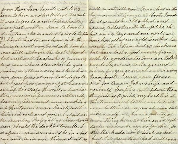 Mrs. Roberts letter, 1862