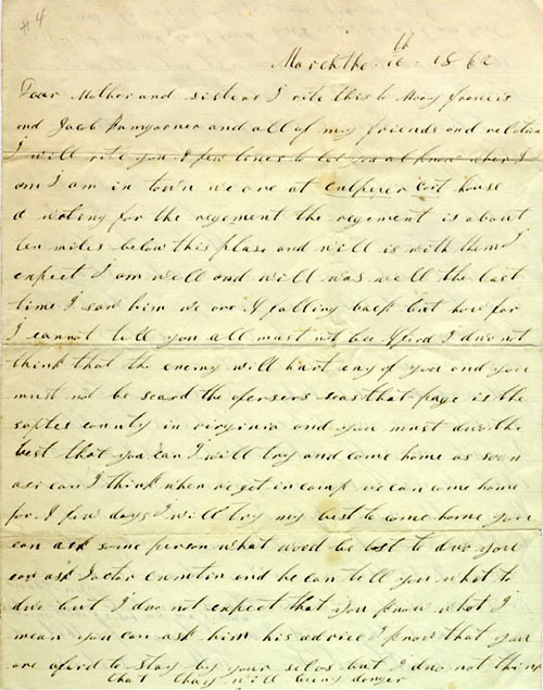 Atwood letter, 1862
