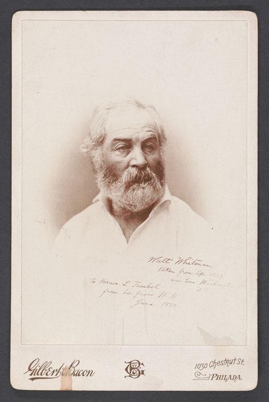 Photograph of Walt Whitman, 1863.