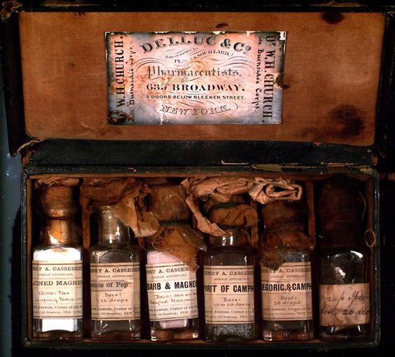 W. H. Church's medicine case, undated.