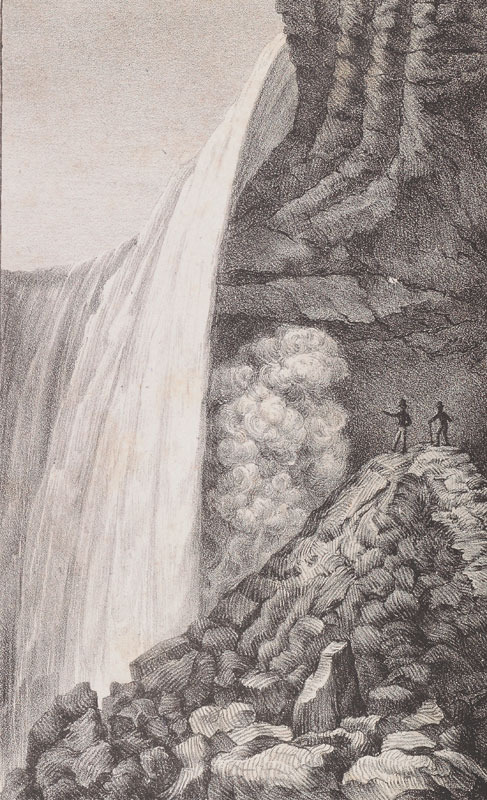 Niagara Falls from Charles Cramer, Etwas über die Natur wunder in Nord America, 1837.