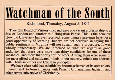 Watchman of the South, newspaper editorial