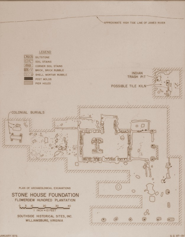 Stone House Foundation Plan View