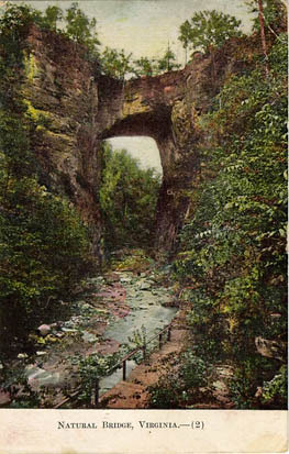 Natural Bridge, Virginia. Postcard