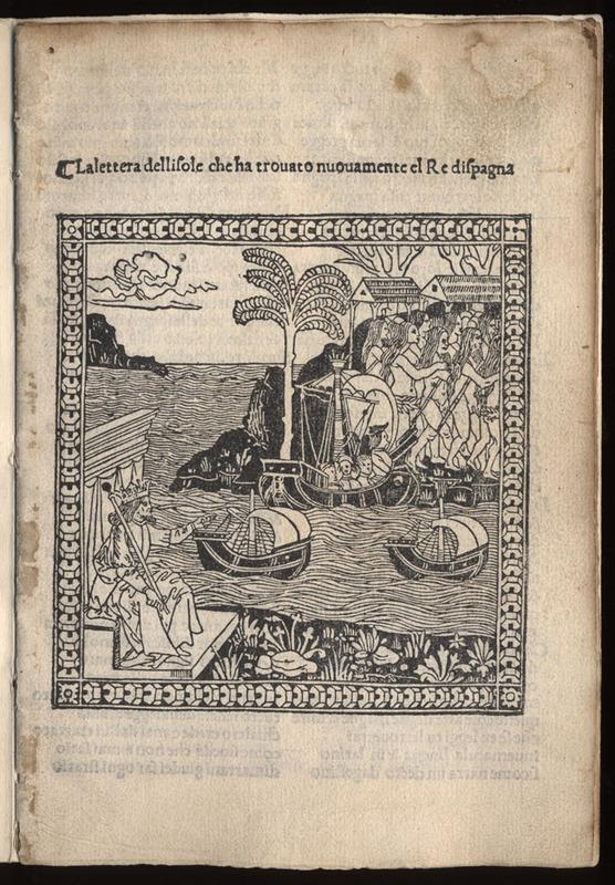Giuliano Dati, La lettera dellisole che ha trouato nuouamente el re dispagna, 1495.