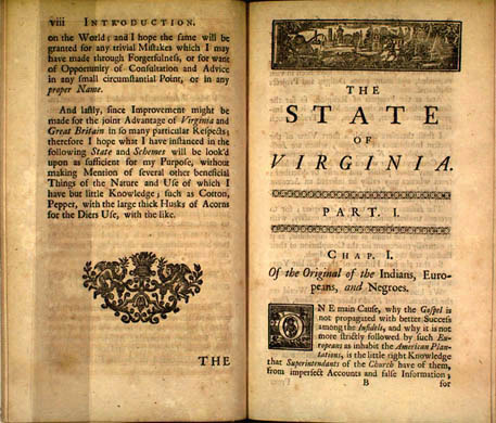 Hugh Jones. The Present State of Virginia