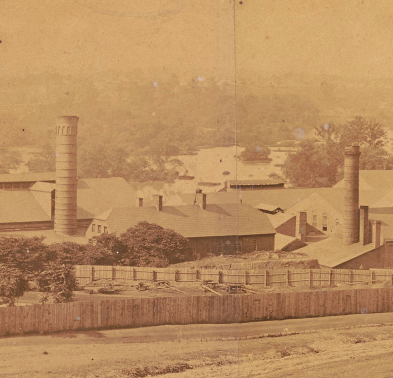 Detail, photograph of the Tredegar Iron Works, Richmond, Va., 1865.