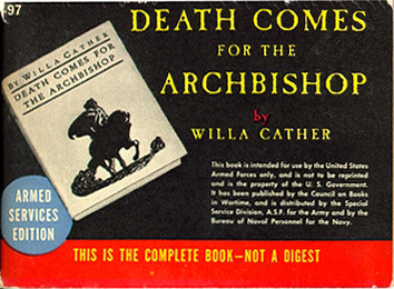 Willa Cather. Death Comes for the Archbishop