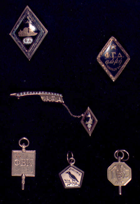 Fraternity Pins. No date.