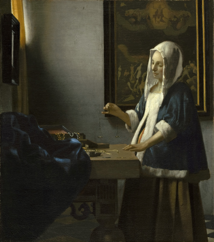 "Johannes Vermeer's ""Woman Holding a Balance,"" 1662-1664"