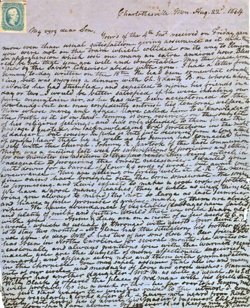 Mary Davis letter, 1864
