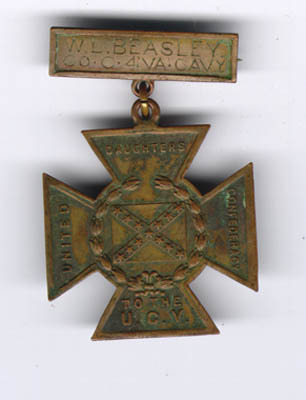 Southern Cross of Honor medal, ca. 1895