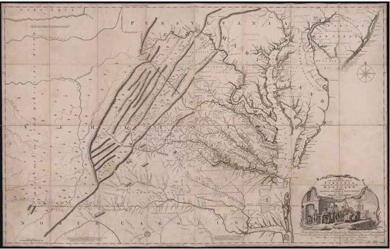 A map of the inhabited part of Virginia containing the whole Province of Maryland with part of Pensilvania, New Jersey and North Carolina drawn by Joshua Fry & Peter Jefferson in 1751. [cartographic material]