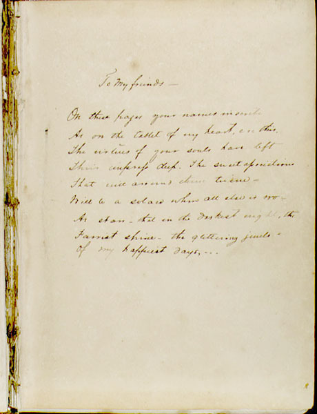 Burette O. Holman's autograph album for the University of Virginia with P.S. Duval lithographs. 1850.