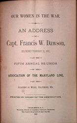 Address by Francis W. Dawson, 1887