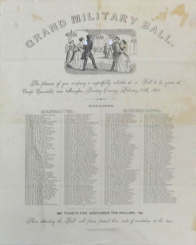 Grand military ball. Richmond, Va.: Dispatch Steam Press, [1862]