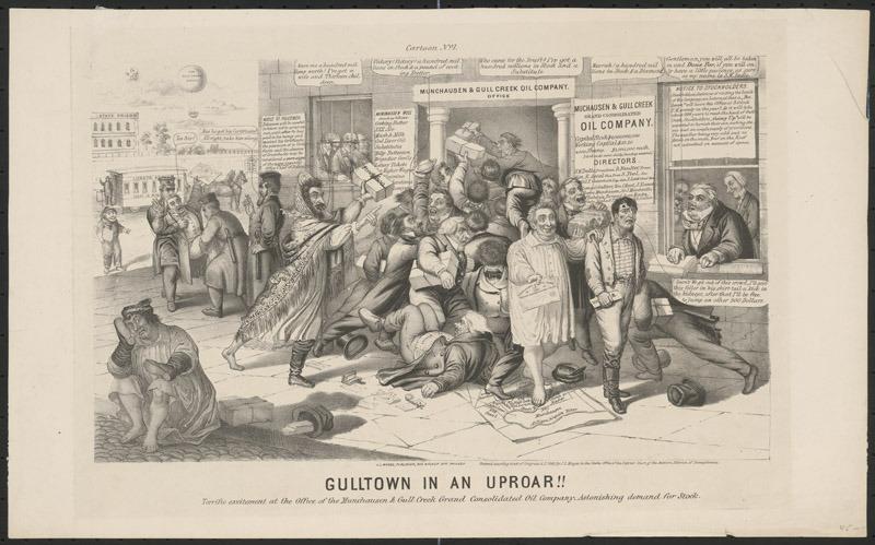 Gulltown in an uproar!, 1865.