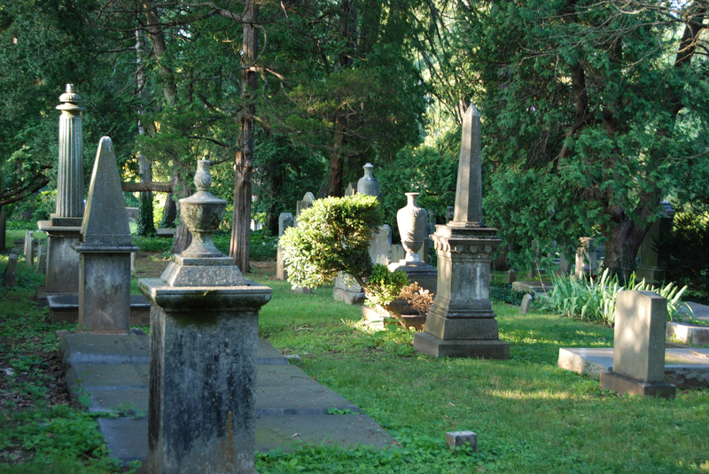 Photograph of the oldest part of the University Cemetery