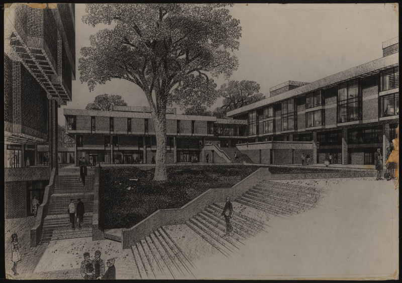 Rendering of Campbell Hall, 1967