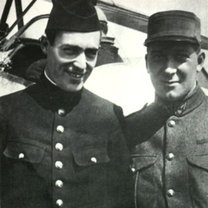 McConnell (right) with Kiffin Rockwell