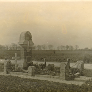 McConnell photographs. Original site of grave near the village of Flavy-le-Martel, Aisne