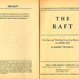 Robert Trumbull. The Raft: The True and Compelling Story of 34 Days at Sea on a Rubber Raft