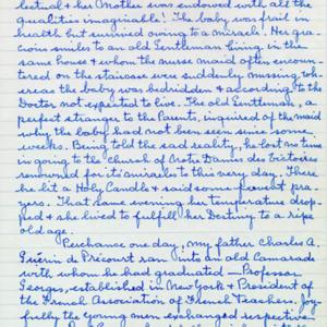 McConnell documents. Marcelle Guérin. Memoir, p.1