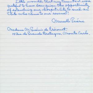 McConnell documents. Marcelle Guérin. Memoir, p.11