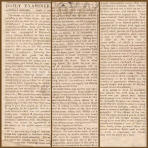 Daily Richmond examiner. Richmond, Va.: William Lloyd & Co., 4 April 1863.