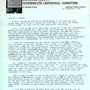 McConnell letters. November 15, 1976. Rockwell to Tanner, p.1