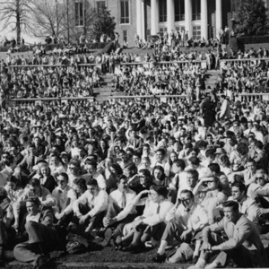 Photograph. Easters concert in the McIntire Amphitheater given by Xavier Cugat and his orchestra. 1948.