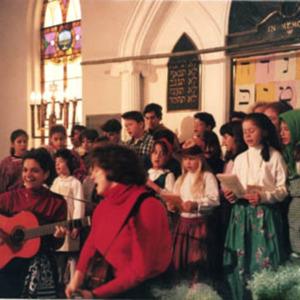 Celebrating Hanukah at the Religious School, 1993, 3