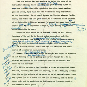 Introduction of Robert Frost, draft page 3