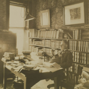 Robert Coleman Taylor in his office, no date. Gift of Mrs. R. C. Taylor (MSS 9177-b)