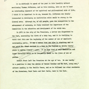 Introduction of Robert Frost, draft page 2