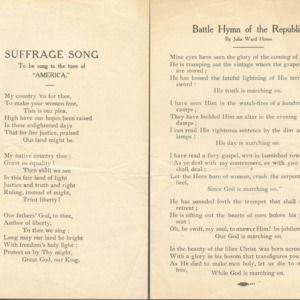 "Suffrage Song to Be Sung to the Tune of ""America"""