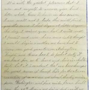 "Nathaniel Gammon, Jr., Letter to his sister, ""Camp near Chantilli,"" 5 April 1863."