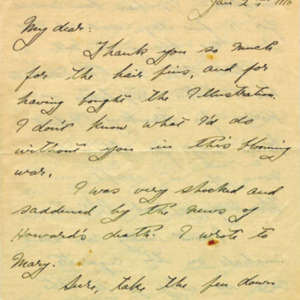 McConnell letters. January 2, 1917, p.1