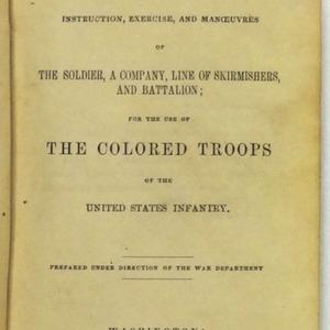 U.S. War Department, U.S. infantry tactics ... Washington: Government Printing Office, 1863.