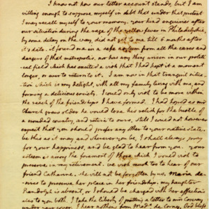 Angelica Church Archive. From Thomas Jefferson. Sept. 8, 1795