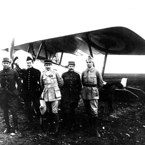 With four of the original members of the Lafayette Escadrille